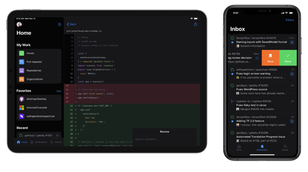 Try Github beta app for iPadOS and iOS, Android now