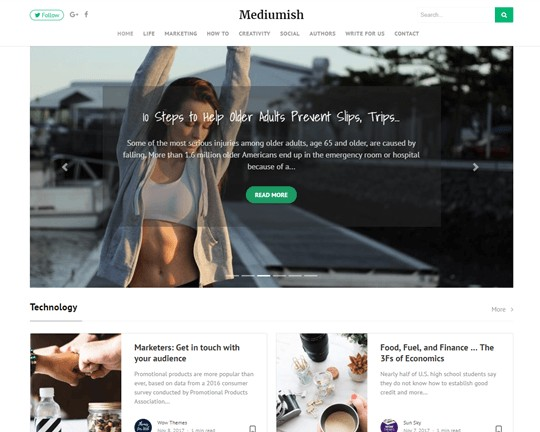 mediumish wordpress theme