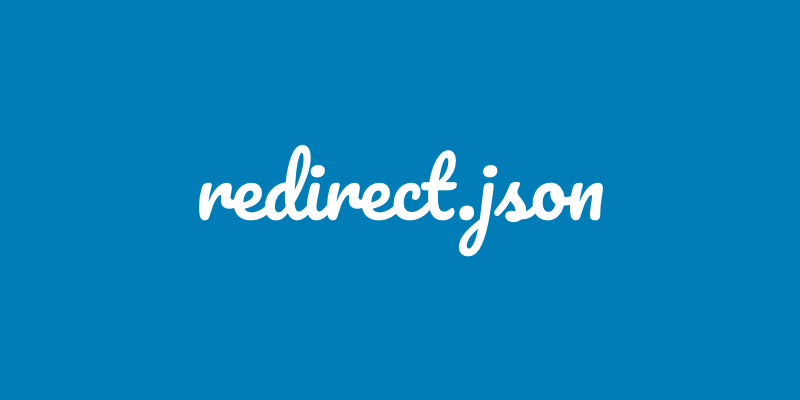 How to create a redirect.json file for GHOST site